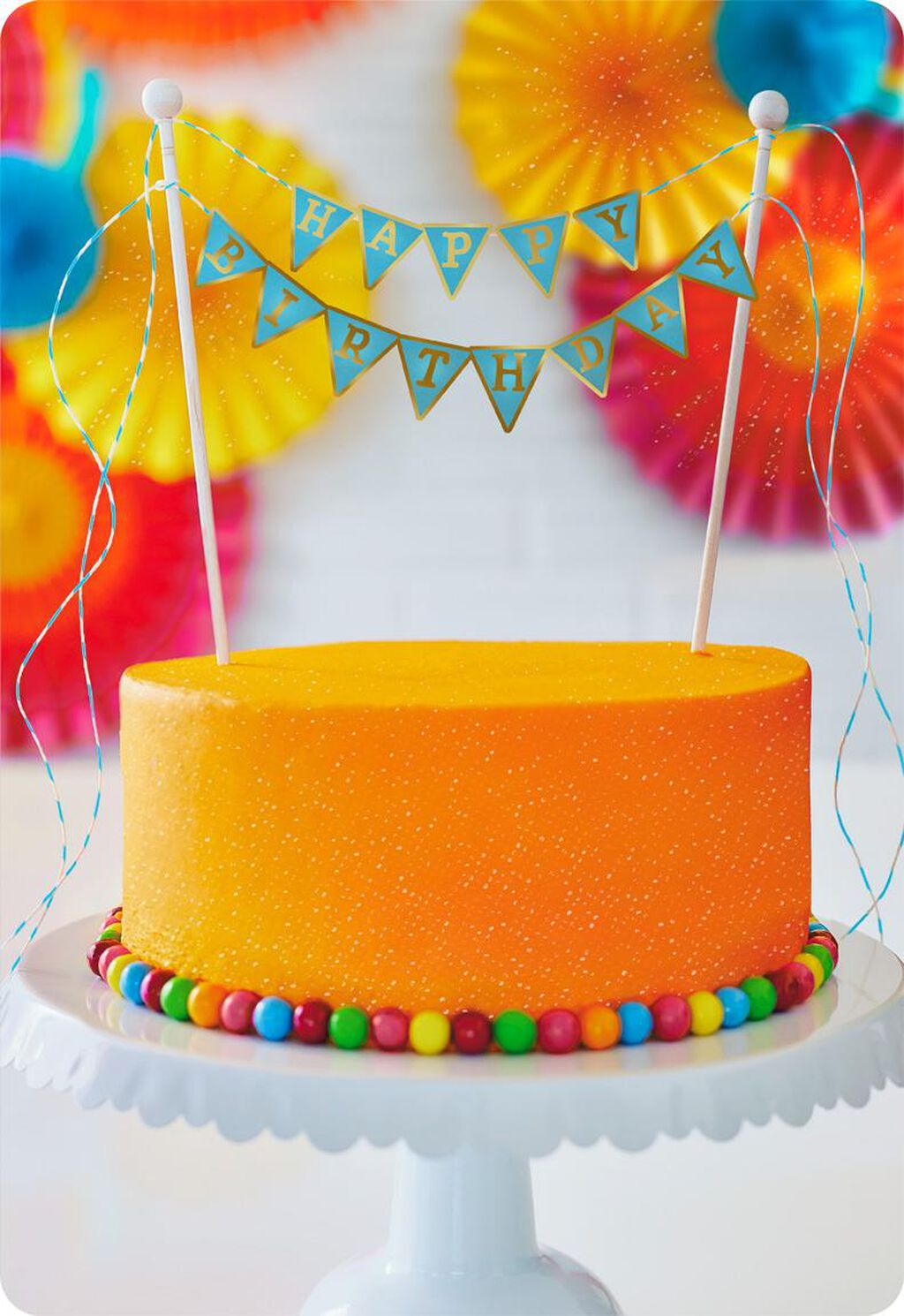 Happy Birthday Cake Jumbo Card 1625