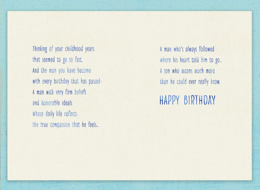 You Follow Your Heart Birthday Card For Son Greeting Cards Hallmark