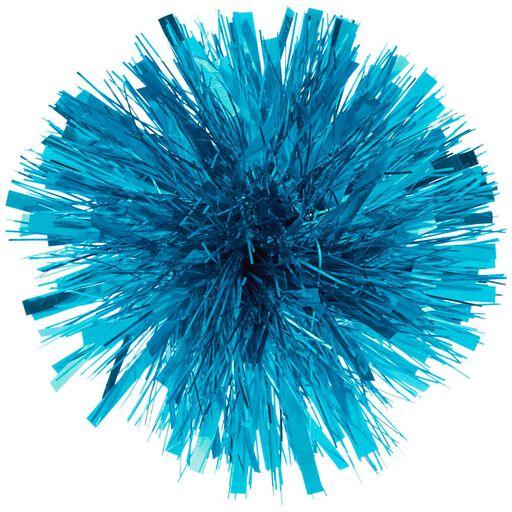 c15ea7d79b47 Turquoise Metallic Pom-Pom Gift Bow, 5.5