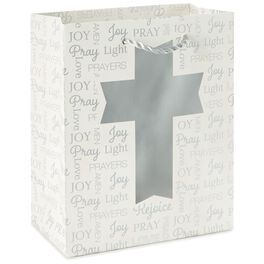 "Silver Cross Small Gift Bag, 6.5"", , large"