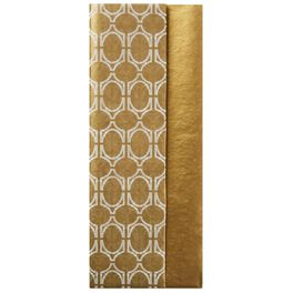 Gold and Geometric Pattern 2-Pack Tissue Paper, 6 sheets, , large