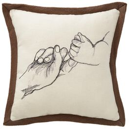"""Holding Hands Decorative Pillow, 10.5"""" Square, , large"""