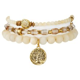 "Chavez for Charity Golden ""Tree of Life"" Bracelets, Set of 3, , large"