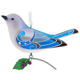 The Beauty of Birds Lady Mountain Bluebird Ornament, , large