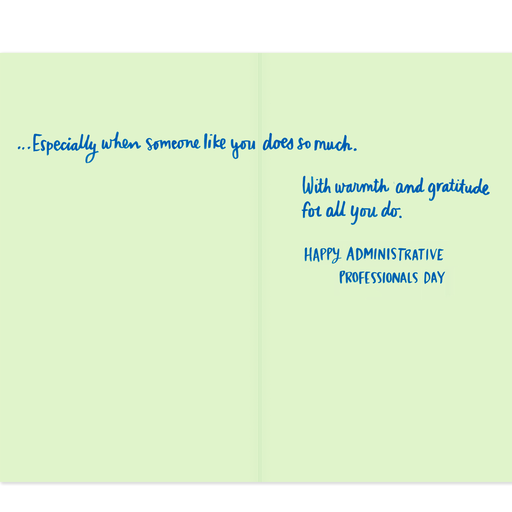 You Do So Much Admin Professionals Day Card