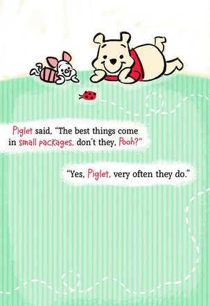 Winnie the Pooh and Piglet New Grandchild Card