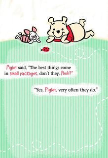 Winnie the Pooh and Piglet New Grandchild Card,