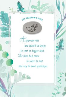The Sparrow's Song Sympathy Card,