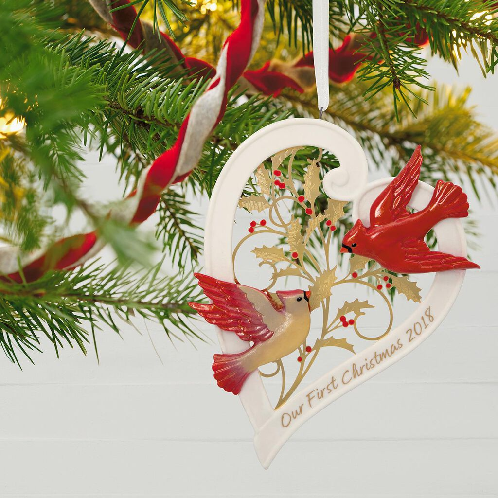 Our First Christmas Together Heart 2018 Porcelain Ornament ...