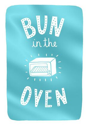 Bun in the Oven Baby Congratulations Card
