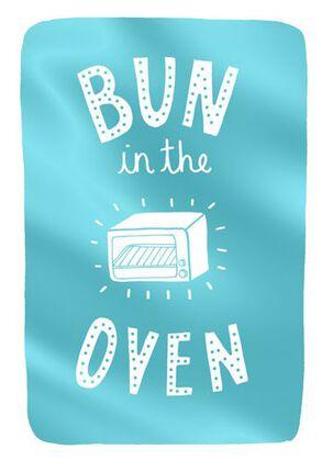 Bun in the Oven Baby Congratulations Card