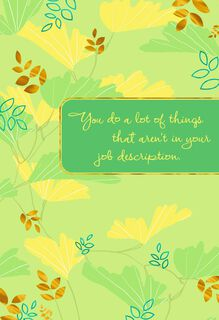 Beyond Job Description Administrative Professionals Day Card,
