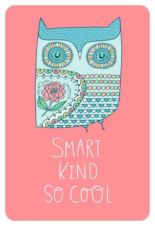 Smart Kind Cool Birthday Card With Stickers