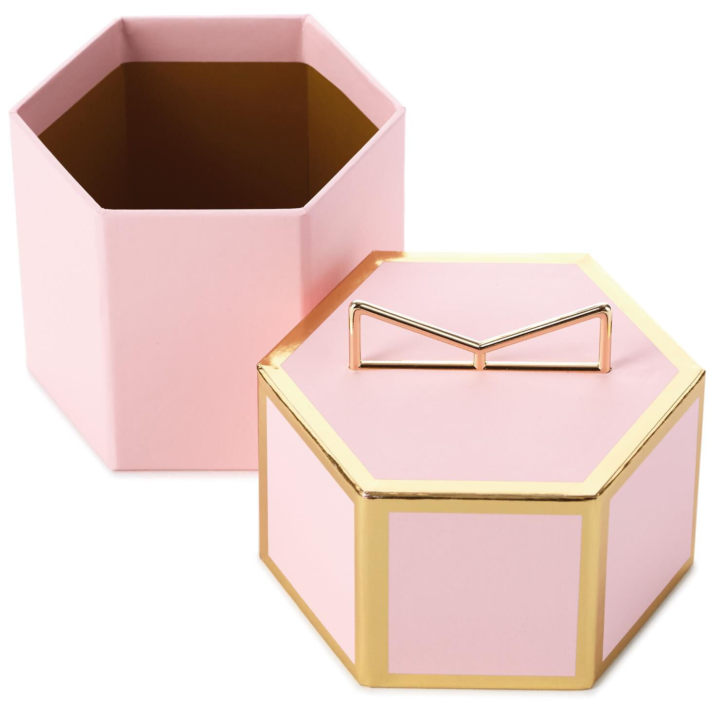 Pink With Gold Trim Small Gift Box - Gift Boxes - Hallmark