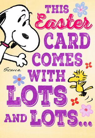 Peanuts® Snoopy and Woodstock Lots of Love Easter Card