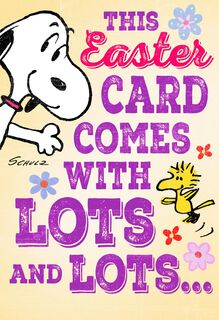 Peanuts® Snoopy and Woodstock Lots of Love Easter Card,