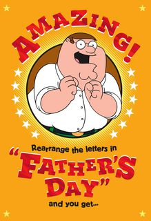Family Guy™ Funny Father's Day Card,