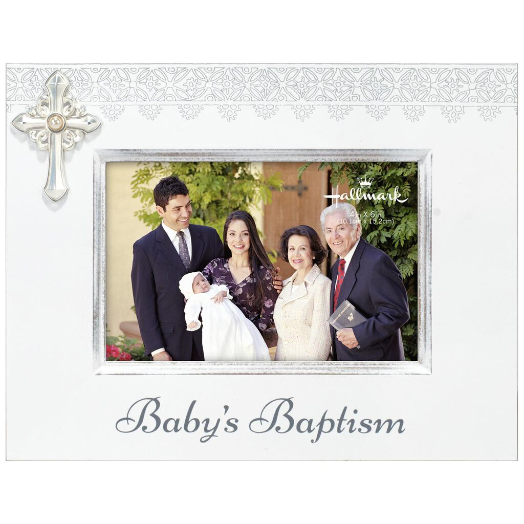 Baptism Wood Picture Frame With Cross, 4x6 - Picture Frames - Hallmark