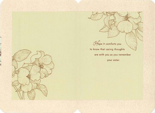 As You Remember Your Sister Sympathy Card,