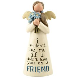 Friend Angel With Flower Bouquet Figurine, , large