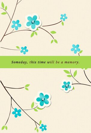 Blue Flowering Branches Encouragement Card