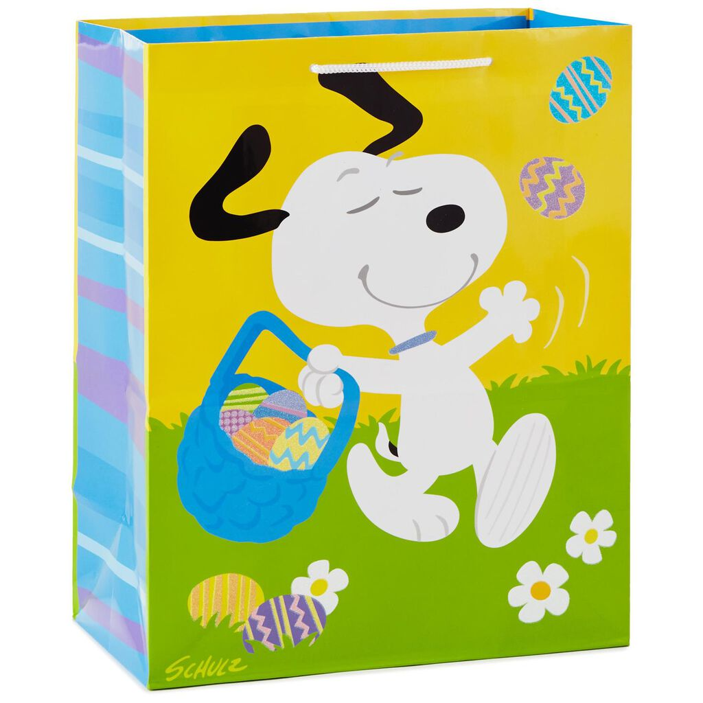 Peanuts snoopy easter beagle large gift bag 13 gift bags hallmark peanuts snoopy easter beagle large gift bag negle Images