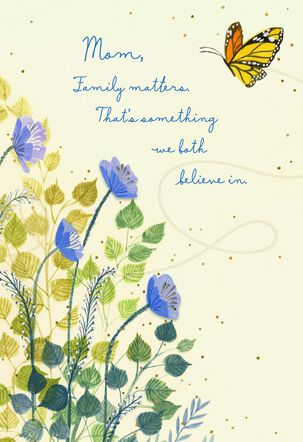 Monarch Butterfly and Blue Flowers Mother's Day Card