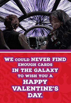 Han Solo™ and Chewbacca™ Valentine's Day Card for Anyone
