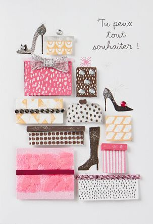 Wishes Are Like Shoes French-Language Birthday Card