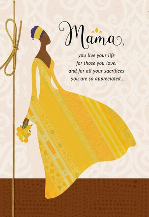 Mama, You Are a Wonderful, Shining Example Birthday Card