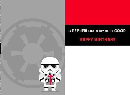 Stormtrooper hallmark star wars stormtrooper good and bad birthday card for nephew bookmarktalkfo Images