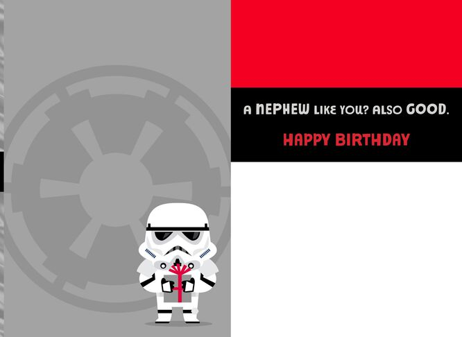 Star Wars Stormtrooper Good and Bad Birthday Card for Nephew – Birthday Card Nephew