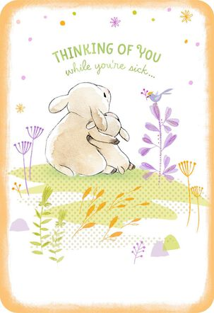 Hugging Lambs Get Well Card