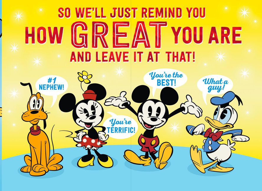 Disney Donald Duck Youre Great Nephew Birthday Card Greeting