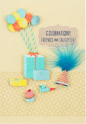 Celebration! Friends and Laughter! Birthday Card