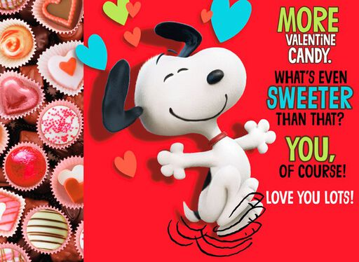 Snoopy Candy Great-Grandson Valentine Card,