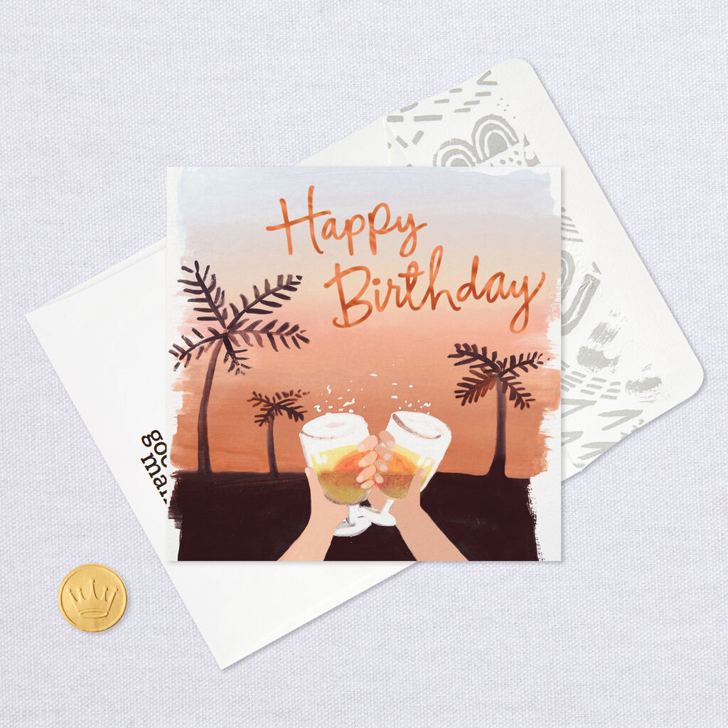 9867f7e74 Sunshine and Alcohol Funny Birthday Card - Greeting Cards - Hallmark
