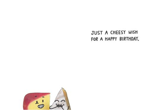 Gouda and Brie Cheese Funny Birthday Card,