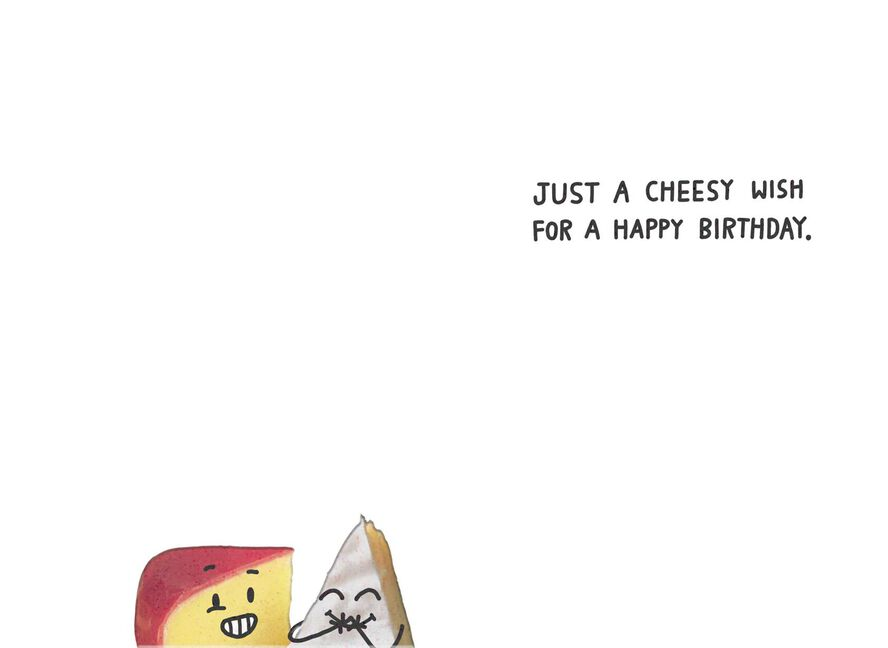 Gouda And Brie Cheese Funny Birthday Card