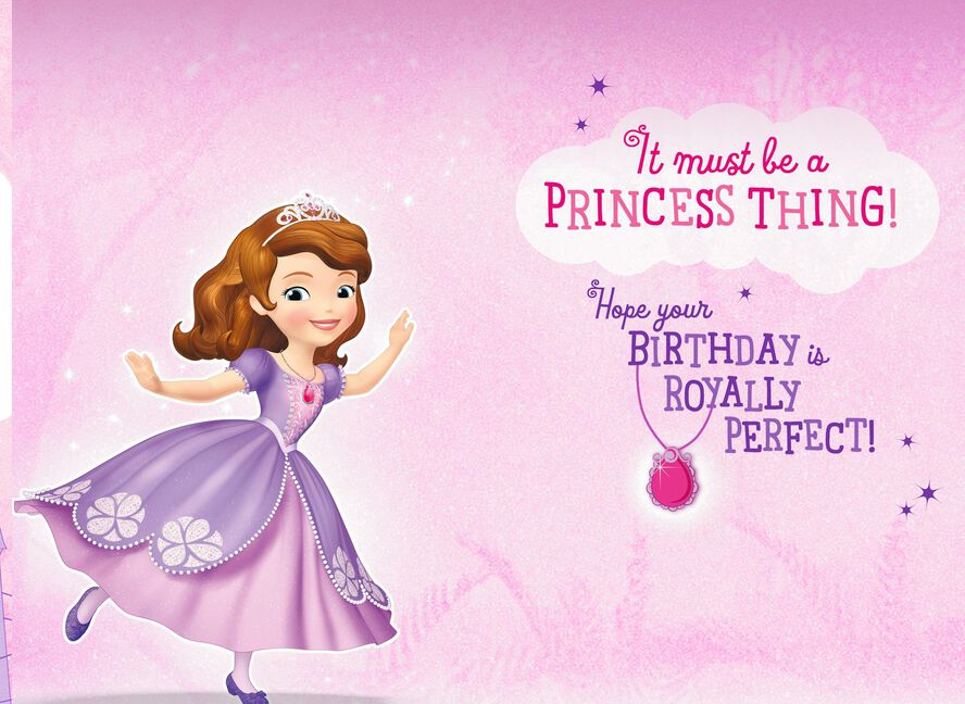 Sofia The First Royally Perfect Birthday Card Greeting Cards