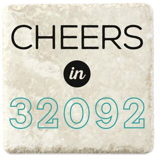 Cheers in Your Zip Code Personalized Stone Coaster, Set of 4,
