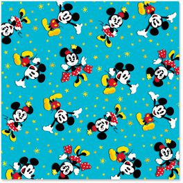 Mickey and Minnie Mouse Stylized Wrapping Paper Roll, 25 sq. ft., , large