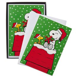 Peanuts® Snoopy Doghouse Christmas Cards, Box of 16, , large