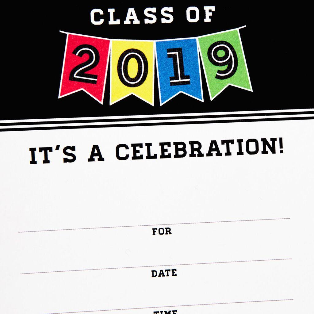 Class Of 2019 Banner Graduation Invitations Box 25