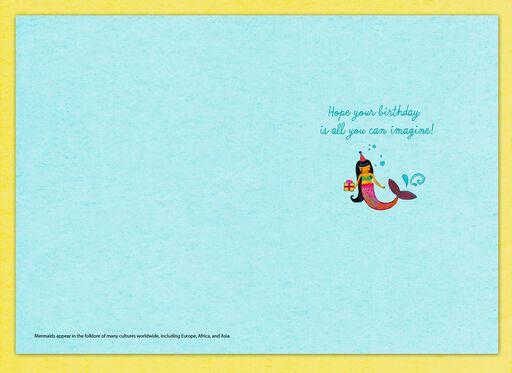 Mermaid Birthday Card,