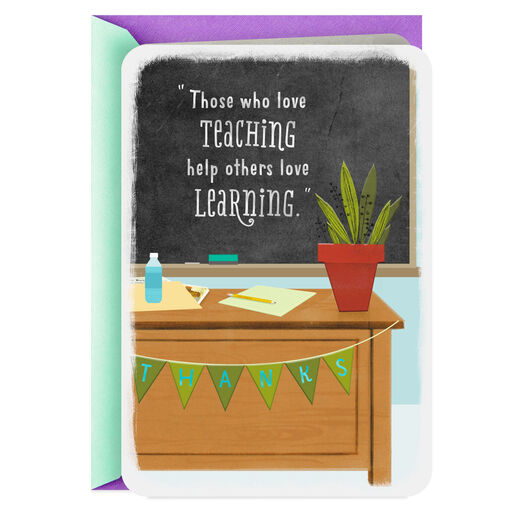 5605f81758 You Really Care About Your Students Thank You Card for Teacher, ...