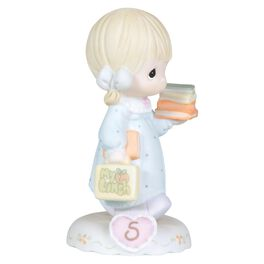 Precious Moments® Growing in Grace Blonde Hair Girl Figurine, Age 5, , large