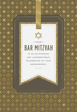 A Celebration of Your Awesomeness Bar Mitzvah Card