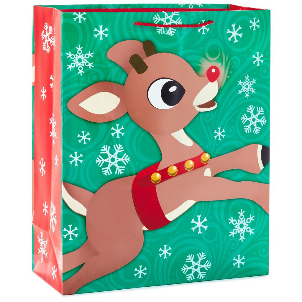 Rudolph the Red-Nosed Reindeer® Flying X-Large Christmas Gift Bag ...