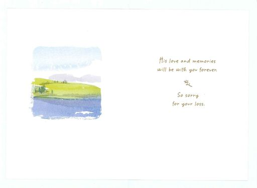 Watercolor Landscape Loss of Grandfather Sympathy Card,